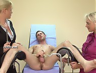 Doctor Latitia takes advantage of sexy local farmer George. Medical exam, anal penetration, spanking, supervised ejaculation and milking machine