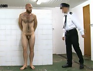 Continuing their scheme of humiliating an alpha as an example to the others they've taken Shamus here to be hosed down with an ice cold jet. This isn't going to be pleasant. This prisoner knows that h...