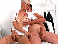 CFNM fucking at hospital with lean European MILF Zita