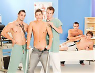 Wank Party RAW gay clinic examination